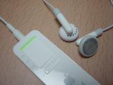 iPod shuffleの裏面、スイッチオーン!